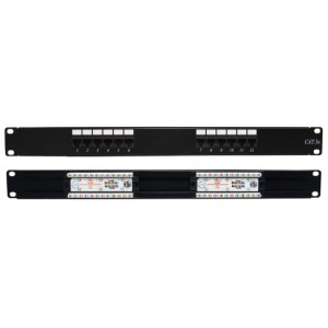 CAT5E 12 Port 110 Type IDC design Rackmount Patch Panel