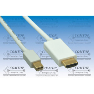 Comtop 10DP-MDPHM-06 6ft Mini Display Port to HDMI Cable