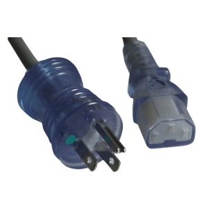 Comtop 10W1-C141513-15 15FT Hospital Grade Cable, NEMA 5-15P to C13, 14 AWG