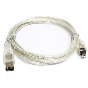Clear Firewire IEEE 1394 6-Foot iLink Cable
