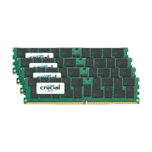 Crucial CT4K32G4LFQ424A 128GB (4 x 32GB) 288-Pin LRDIMM DDR4 2400MHz PC4-19200 Server Memory