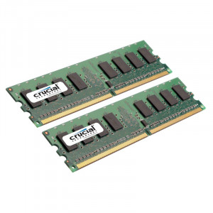 Crucial CT2KIT12864AA800 2GB (2 x 1GB) 240-Pin DDR2 Desktop Memory