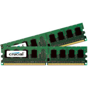 Crucial 4GB (2GBx2) DDR2-667 (PC2 5300) 240-pin Dual Channel Kit Server Memory CT2KIT25672AF667