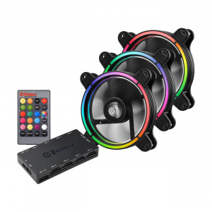 Enermax UCTBRGB12-BP3 T.B RGB 120mm Case Fan with 3 in 1 Remote Controller and Control Box