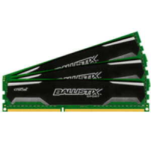 Crucial Ballistix Sport BLS3KIT4G3D1339DS1S00 12GB (4GBx3) DDR3 240-Pin Triple Channel Desktop Memory