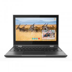 "Lenovo 300e 81M90000US 2nd Gen, 11.6"" IPS Multi-Touch Notebook, Intel Celeron N4100, 4GB RAM, 64GB S"