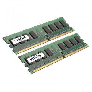 Crucial 8GB (4GBx2) DDR2 667 (PC2-5300) 240-Pin Dual Channel Kit Desktop Memory CT2KIT51264AA667