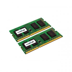Crucial CT2KIT12864BF160B 2GB (2 x 1GB) 204-Pin SODIMM DDR3L 1600MHz (PC3-12800) Laptop Memory