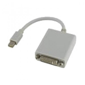 MRP AD-MDPDVI-MF 8.5 inch Mini Display Port Male to DVI Female Cable for Apple Macbook, White
