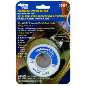 Alpha Metals AM31604 Alpha Fry Electrical Repair Solder 60/40 Rosin Flux Core 4OZ
