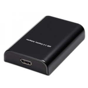 Black GWC USB 3.0 to DisplayPort Adapter, Extend and Mirror Mode Support, Model: AN3820.