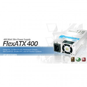 Athena Power FlexATX 400 400W Power Supply AP-MFATX40P8