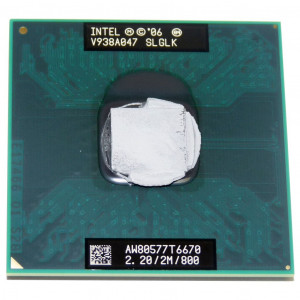 *USED* Intel Core2 Duo Mobile T6670 Penryn 2.2GHz 800MHz Socket P Dual Core 45nm Processor AW80577GG0492MH