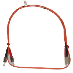 JDI 2M LC to ST Multimode 62.5/125 Fiber Optic Jumper Cable.