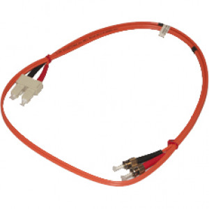 JDI 1M ST to SC Multimode 62.5/125 Fiber Optic Jumper Cable.