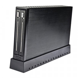 Black Syba Dual 2.5in HD/SSD Slim Enclosure