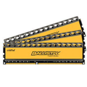 Crucial Ballistix Tactical BLT3KIT4G3D1608DT1TX0 12GB (4GBx3) DDR3 240-Pin Triple Channel Desktop Memory