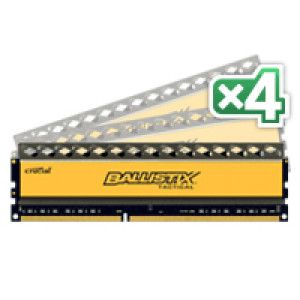 Crucial Ballistix Tactical BLT4KIT8G3D1608DT1TX0 32GB (8GBx4) DDR3 240-Pin Quad Channel Desktop Memory