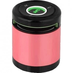 Pink iKANOO BT012 3W Portable Bluetooth Speaker, 90Hz-20kHz, Built-in Speakerphone, P/N: BT012-PINK.