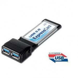 GWC USB 3.0 ExpressCard with Power Adapter, USB-IF Certified. Model: BU3020,