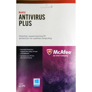 Intel McAfee Anti-Virus Service Activation Code Card, 1 Year, English, Win 8 Compatible