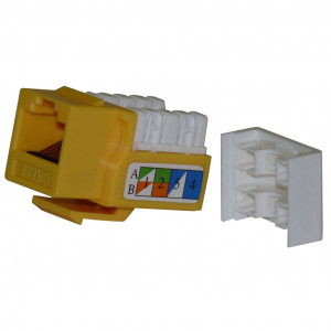 Yellow Color Cat 5E Tool Type ( Punch Down) RJ45 Keystone Jack