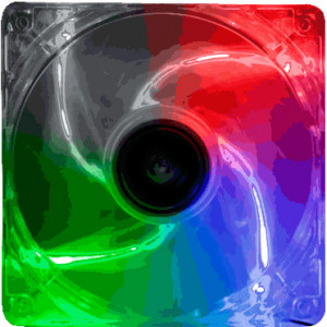 Kingwin Advance Series 120mm Multi-Color LED Case Fan