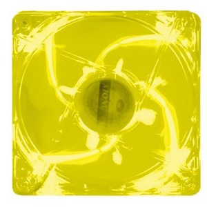 Kingwin 120mm Advance Series Yellow LED Case Fan