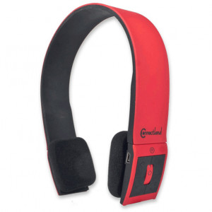 Red/Black Syba Bluetooth v2.1 EDR Stereo Headset with Microphone, Modern Edge Design, Model: CL-AUD23030