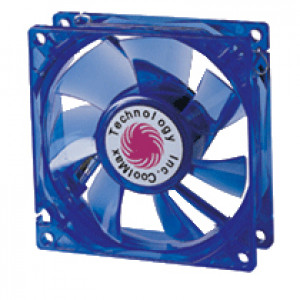 Blue Coolmax 80mm UV Crystal LED Cooling Fan