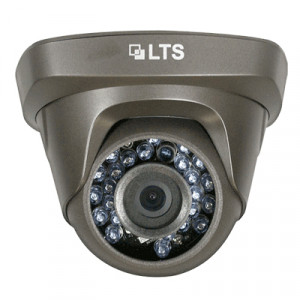 LTS 1.3MP 1/3in Sensor Turret Dome Camera, 3.6mm Fixed Lens, 24pcs IR LEDs, IP 66 Water-proof, DC 12