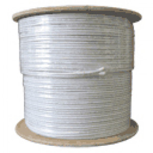 White 1000FT RG59 Siamese Plenum Bulk Coaxial Cable