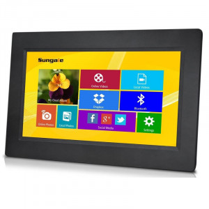 Sungale CPF1032 10.1In LED Touchscreen Wi-Fi Cloud Frame, 1024x600 Pixels (16:9), 4GB Internal Memor