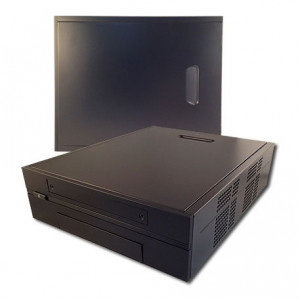 Jetway CS-JC-200S-B Black Mini-ITX Form Computer Case, w/ 100W Internal DC Open Frame Power Converte