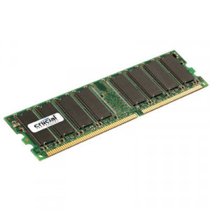Crucial 1GB DDR 400 (PC 3200) 184-Pin DDR SDRAM Desktop Memory CT12864Z40B