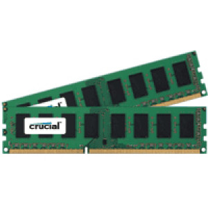 Crucial 8GB (4GBx2) DDR3 1600MHz (PC3-12800) 240-Pin Dual Channel Server Memory