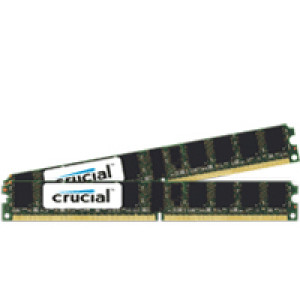 Crucial 8GB (4GBx2) DDR2 667 (PC2-5300) 240-Pin Dual Channel Kit Low Profile Server Memory CT2KIT51272AV667