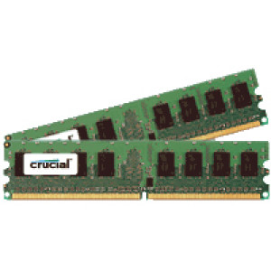 Crucial 4GB(2GBx2) DDR2 PC2-5300 Server Memory CT2KIT25672AA667