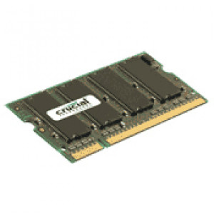 "Crucial 512MB DDR333 (PC2700) Memory Upgrades for Apple PowerBook G4 1GHz 17"" Laptop/Notebook, 200-pin SODIMM, Unbuffered, Non-ECC, 2.5V, CL2.5, Model: CT316639."