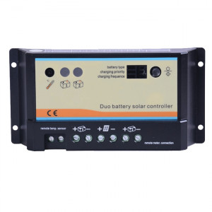 Renogy 10 Amp PWM Dual Battery Charge Controller, Model: CTRL-PWM10DB.