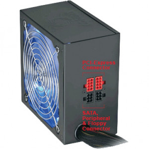 Black CoolMax CUL Series 850W ATX 12V V2.3 Computer Power Supply CUL-850B