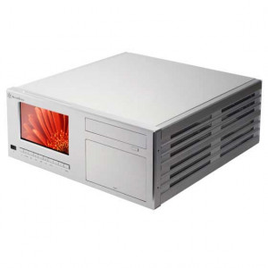 Silver SilverStone CW03S-MT Aluminum Desktop/HTPC Case, w/ 7in TouchScreen, IR Remote and 80mm Fans.