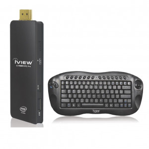 iView Cyber PC Pro Computer Stick, Intel Atom Z3735F CPU, 2GB DDR3, 32GB Storage, WiFi, Bluetooth4.0, Windows 10 Home.