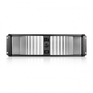 Black/Silver iStarUSA 3U Compact Stylish Rackmount Chassis with SEA Bezel