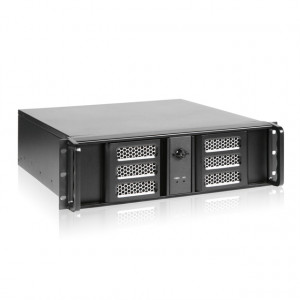 Black iStarUSA D-313ASE-MATX 3U Compact Aluminum Rackmount microATX Chassis