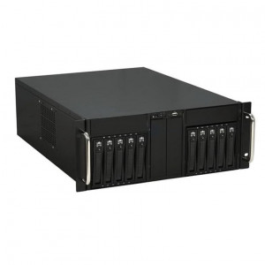 Black i-StarUSA D-410-B10SA 4U 10-Bay Stylish Storage Server Rackmount