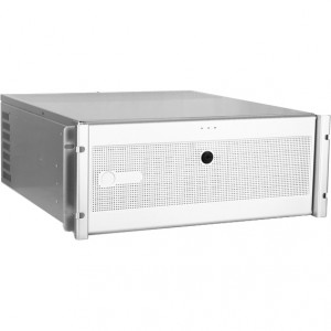 Silver iStarUSA D7-400-6 4U Compact Stylish Rackmount Chassis, Front USB2.0, 6 x 5.25in Bays, w/ 1 x 80mm Fans