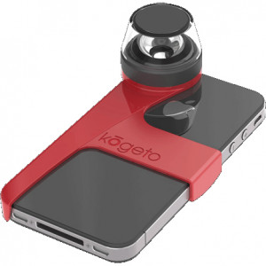 Red Kogeto Dot Panoramic Video Camera for iPhone 4 / 4S