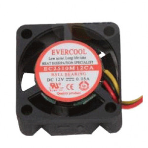 Evercool EC2510M12CA 25mm 12V Ball Bearing DC Fan