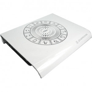 White EverCool Zodiac II 14in Notebook Cooling Pad, w/ 12cm Silent Fan, Model: EC-NP-311W